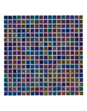 Luxury Tiles Iridescent Purple Mix Burst Glass Mosaic Tile