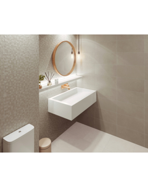 Luxury Tiles Textured White Décor Tile