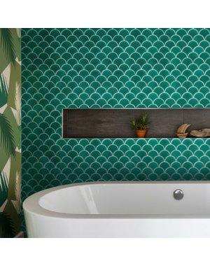 Ca' Pietra Atlantis Scallop Porcelain Emerald Tile