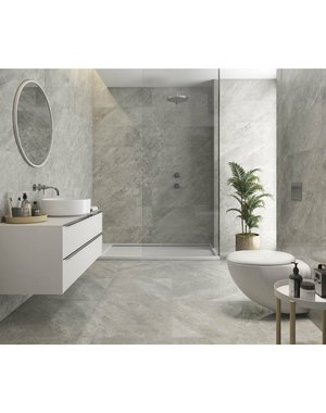 Luxury Tiles Smooth Grey Gloss Marble Effect 30x90cm Tile