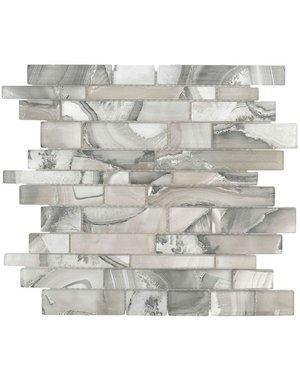 Luxury Tiles Grey Urban Effect Brick Mosaic Tile