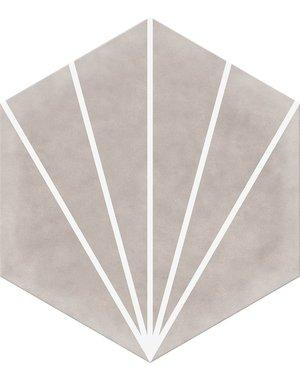 Luxury Tiles Lily Pad Beige Hexagon Tile