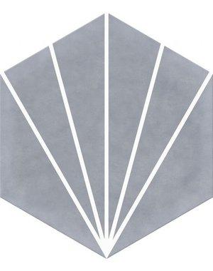 Luxury Tiles Lily Pad Grey Hexagon Tile