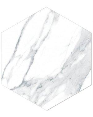 Luxury Tiles Esagono White Hexagon Marble Effect Tile