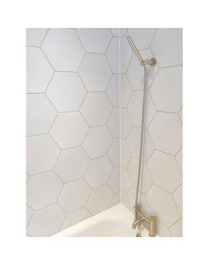 Luxury Tiles Annabelle Plain White Hexagon Tile