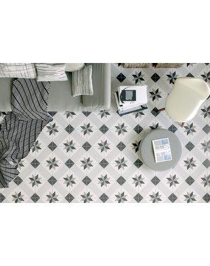 Luxury Tiles Geometric Grey and Black Porcelain Tile