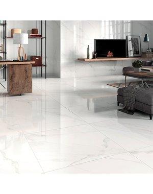 Luxury Tiles Carrara Marble Effect Gloss 800x800mm Tile