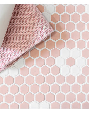 Ca' Pietra Mono Hex Porcelain Daisy Pink