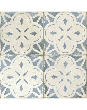 Luxury Tiles Abbey Vintage Pattern Ceramic Blue Tile