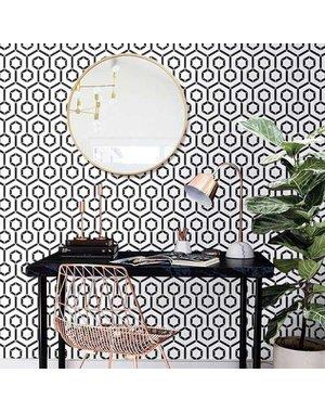 Luxury Tiles Barcelona Black and White Hexagon Mosaic Tile