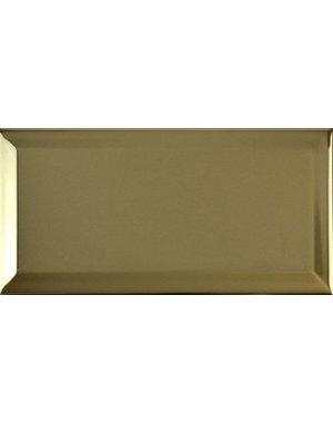 Luxury Tiles Bevelled Metallic Gold Metro Tile 20x10cm