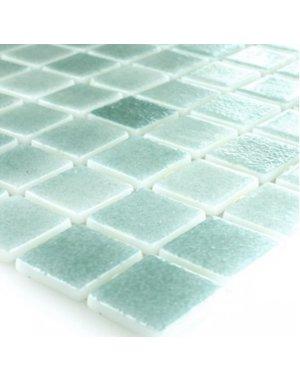 Luxury Tiles Mediterranean Swimming Pool Teal Mosaic Tile