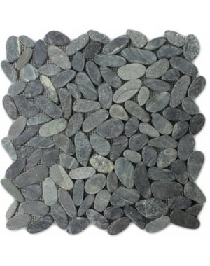 Luxury Tiles Zella Mosaic Pebble Cut Black Tile