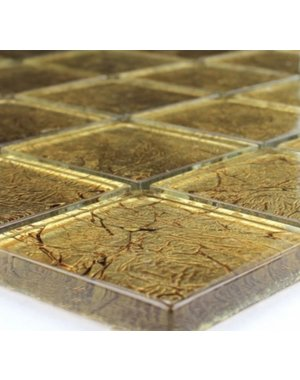 Luxury Tiles Stefany Gold Mosaic Glass Effect Tile