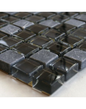 Luxury Tiles Ella Mosaic Black Mix Tile