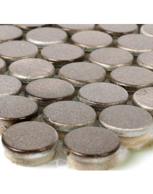 Luxury Tiles Luxor Bronze Penny Mosaic Tile 30x30cm