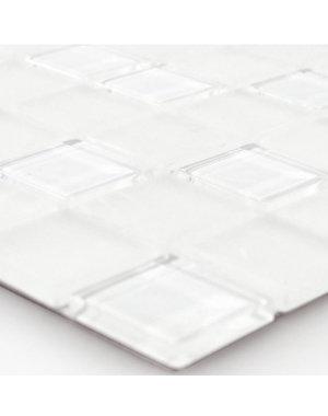 Luxury Tiles Otis White Peel and Stick Glass Mosaic Tile