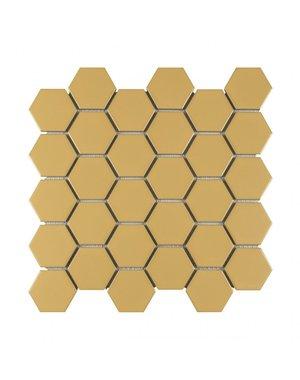 Luxury Tiles Hexagon Gold Honey Mosaic Tile 27.2x28.2cm