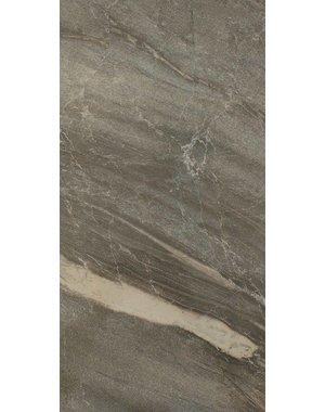 Luxury Tiles Gianna Dark Grey Marble Effect Gloss Tile 500x250mm