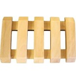 AW Bathroom and Soap Accessories Hemu Wood Soap Dishes - Slotted