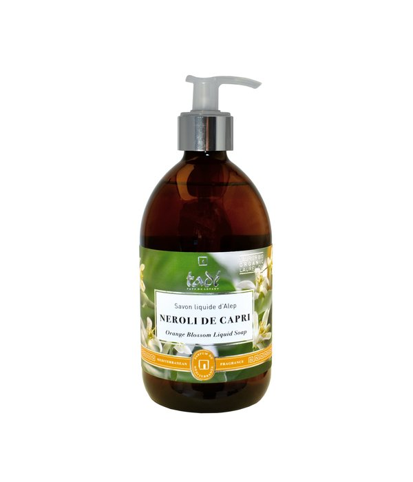 Tadé  Liquid Aleppo soap · Néroli de Capri & Bio Laurel oil, 500ml