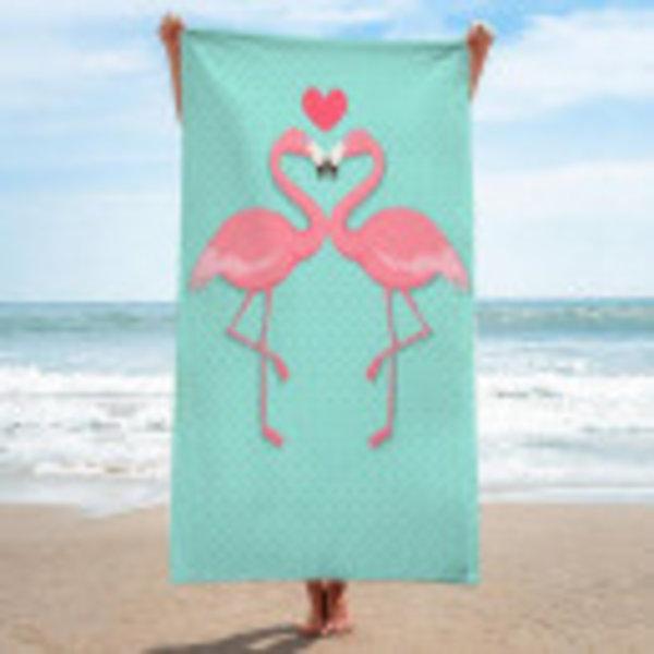 Bath towels Flamingo