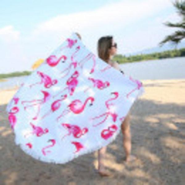 Bath towels Flamingo round