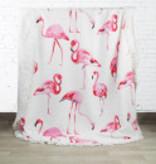 Badhanddoeken Flamingo rond
