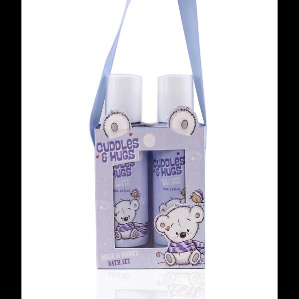 Bath set CUDDLES & HUGS - Milk & Honey
