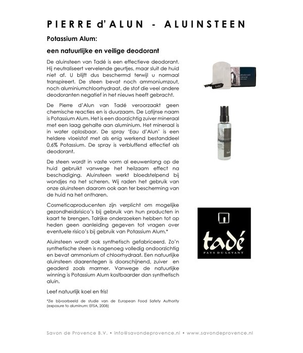 Aluinsteen deodorant