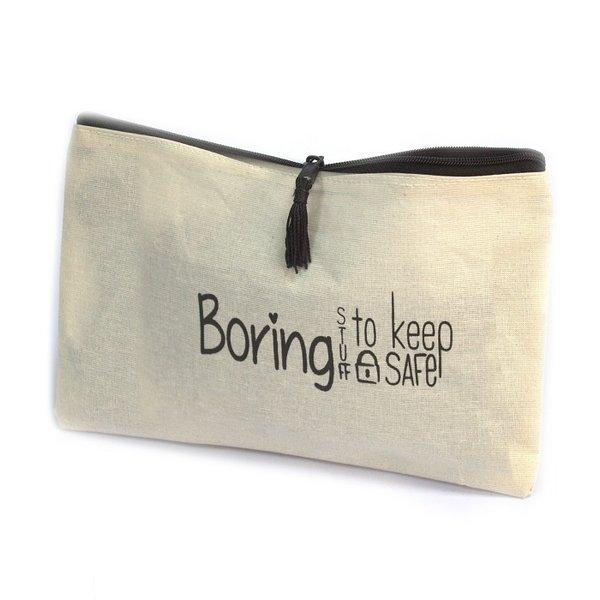 Toiletry bag - BORING STUFF TO KEEP SAFE