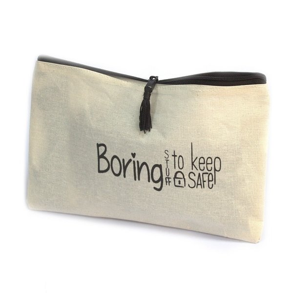 Toiletry bag - BORING STUFF TO KEEP SAFE