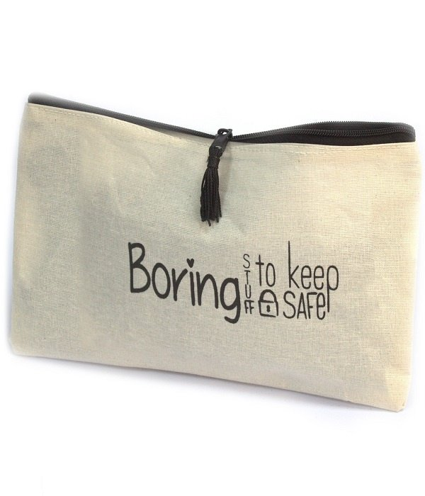 AW Bathroom and Soap Accessories Toiletry bag  - BORING STUFF TO KEEP SAFE
