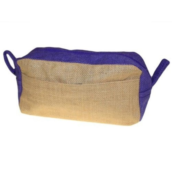 Toiletry bag - Jute purple