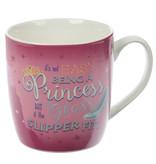 Puckator Enchanted Kingdom Princess Slogan Porcelain Mug