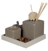 Eden Eden Ceramic Gray Reed Diffuser & Candle Holder Elephant