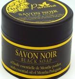 Zwarte zeep - met etherische olie