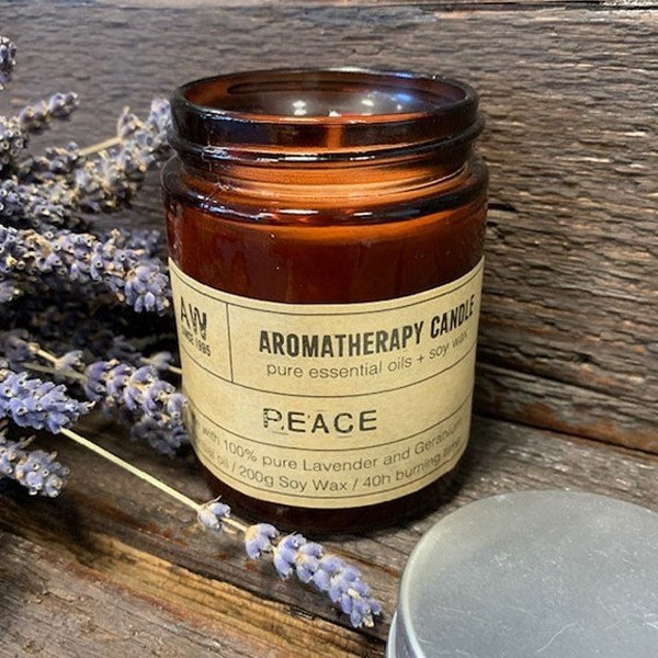 Aromatherapy Soy Candle 200g - Peace