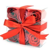 Set of 9 Soap Flower - Red Roses