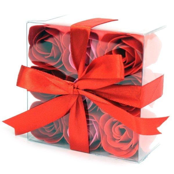 Set van 9 zeeproosjes -  Rode rozen