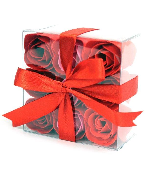 Bathroom Heaven Set van 9 zeeproosjes -  Rode rozen
