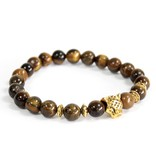 AW Accessoiries Gold Tiger / Tiger Eye - Gemstone Bracelet
