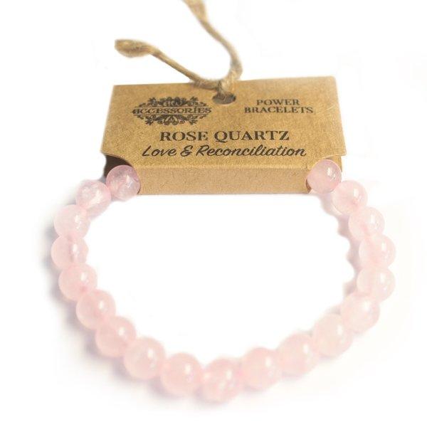 Power Bracelet - Rose Quartz