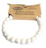 AW Accessoiries Power armband - Witte Jaspis