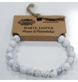 Power armband - Witte Jaspis