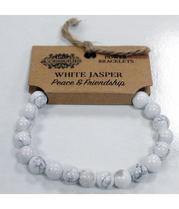 Power Bracelet - White Jasper