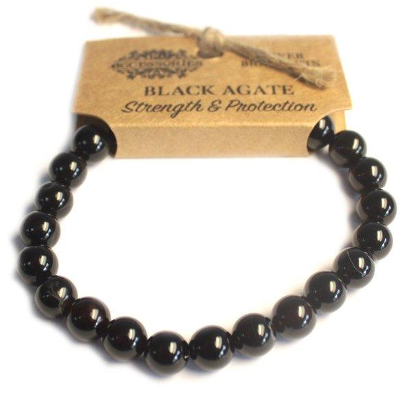Power armband - Zwarte Agaat