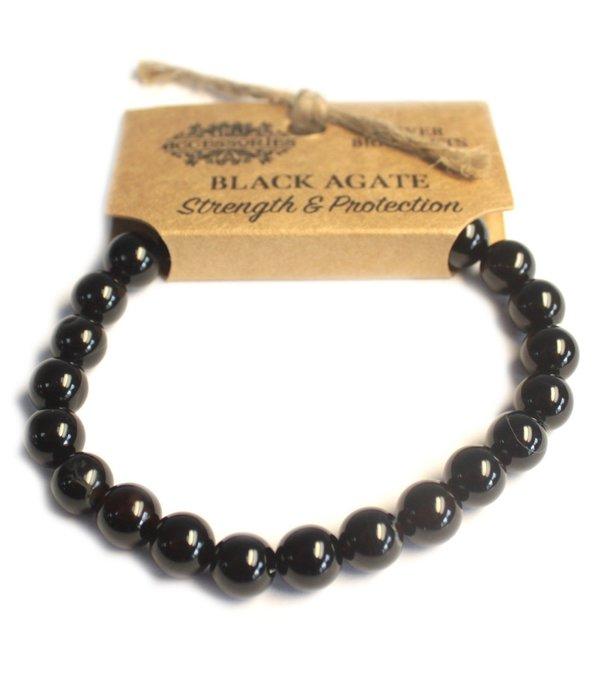 AW Accessoiries Power Bracelet - Black Agate