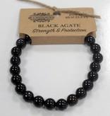 AW Accessoiries Power armband - Zwarte Agaat