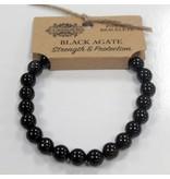 Power Bracelet - Black Agate